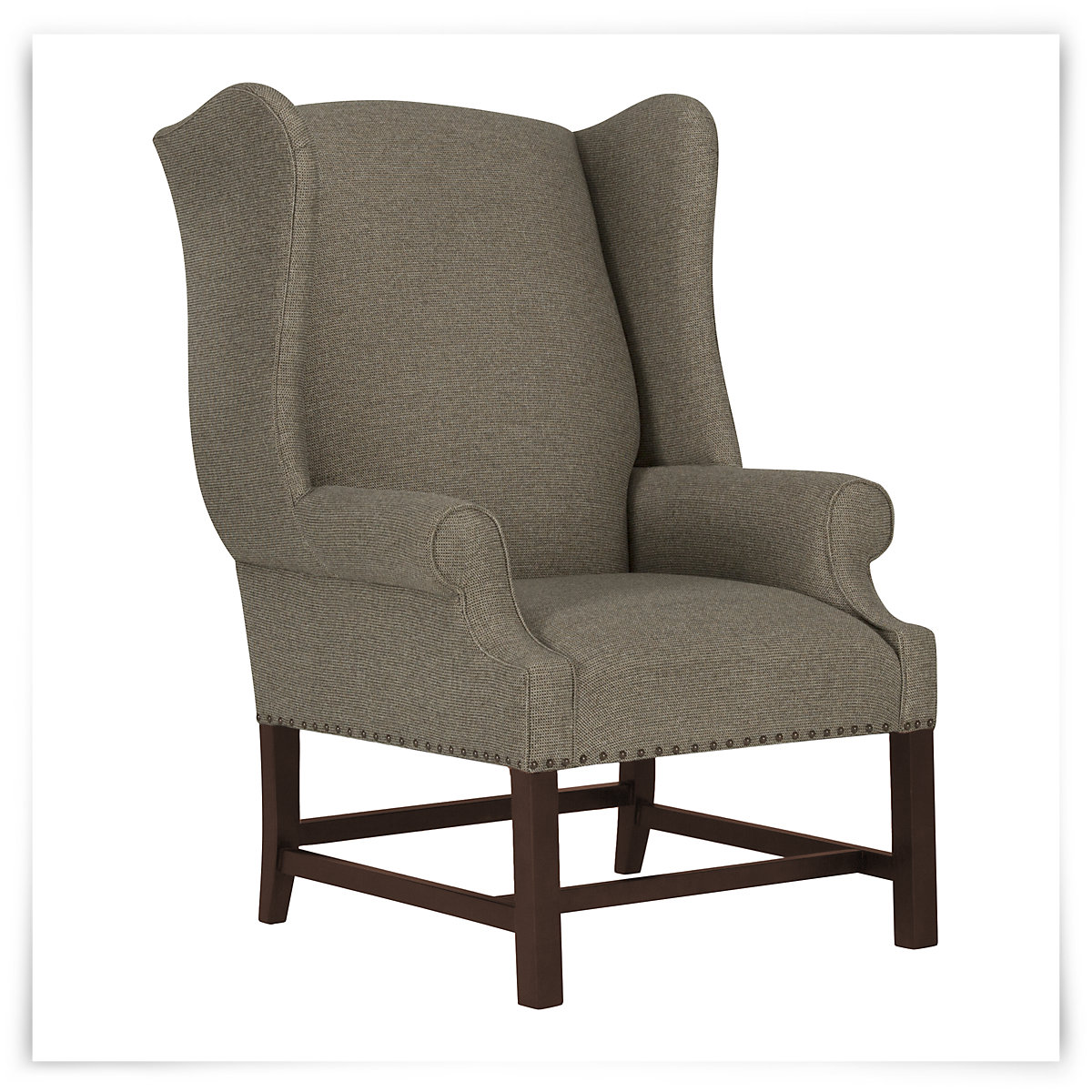 Wentworth Taupe Fabric Accent Chair