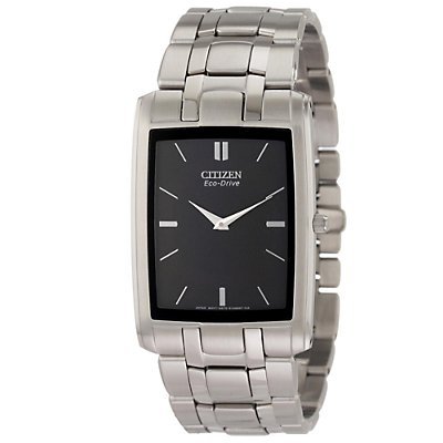Citizen Eco-Drive Stiletto Rectangle Black (Men's)