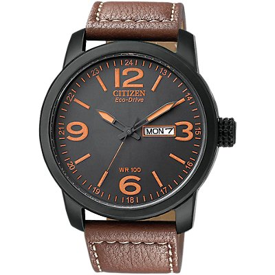Citizen Eco-Drive Brown Strap (Men's)