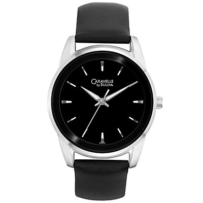 Caravelle Sport Black Dial and Strap (Men's)
