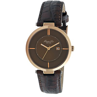 Kenneth Cole Brown Strap and Dial (Women's)