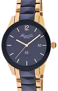 Kenneth Cole Blue Dial Ceramic Bezel (Women's)