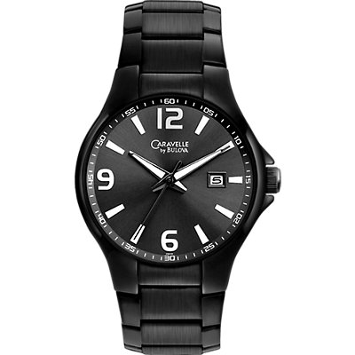 Caravelle Black Sport Strap (Men's)