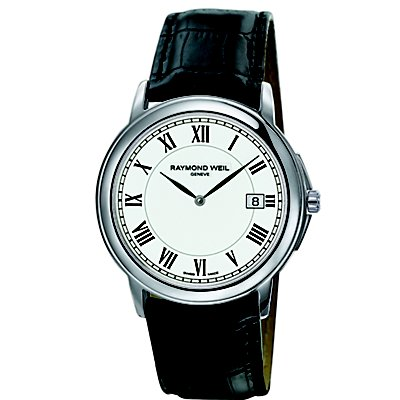 Raymond Weil Tradition Black Leather Strap (Men's) - engraving not available