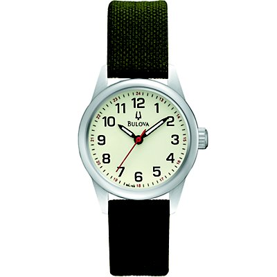 Bulova Cream Dial Canvas Strap (Women's)