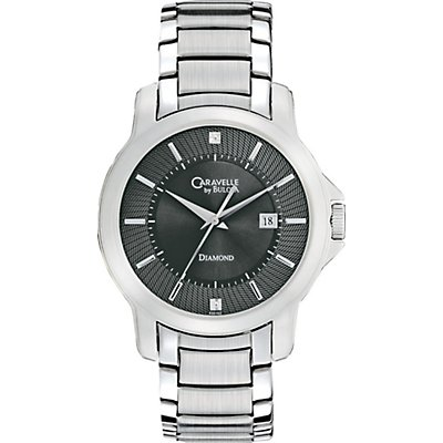 Caravelle Diamond Black Dial (Men's)