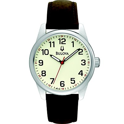Bulova Cream Dial Leather Strap (Men's)