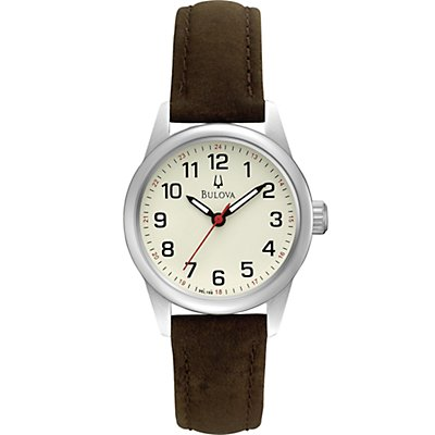 Bulova Cream Dial Leather Strap (Women's)