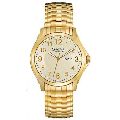 Caravelle Gold-Tone Expansion Band (Men's)