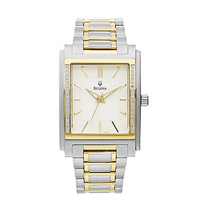 Bulova Rectangle Diamond Bezel (Men's)
