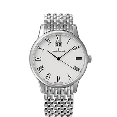 Claude Bernard Classic Big Date Stainless Steel (Men's)