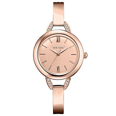 Caravelle New York Swarovski Cystals Rose Gold Dial (Women's)