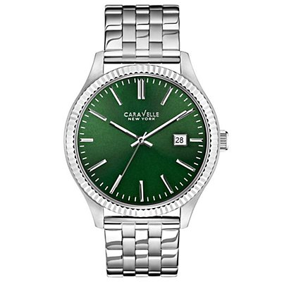 Caravelle New York Green Dial Bracelet (Men's)