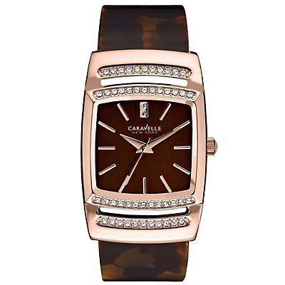 Caravelle New York Rectangle 50 Swarovski Cystals (Women's)