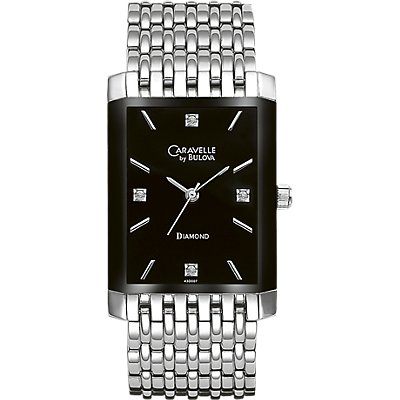 Caravelle Black SS Diamond (Men's)