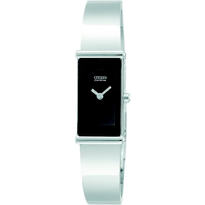 Citizen Silhouette Bangle Eco-Drive Black (Women's)