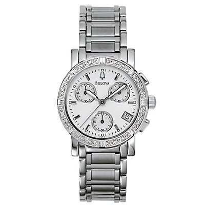 Bulova 16 Diamond Chrono SS (Women's)