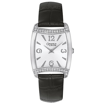 Caravelle Crystal Accented Leather Band (Women's)