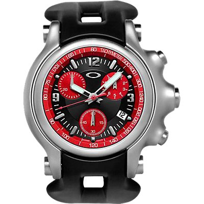 Oakley Holeshot Chrono Red on Black  (Men's)