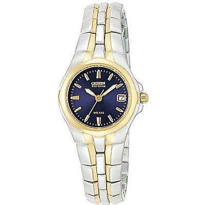 Citizen Eco-Drive Two-Tone Blue Dial (Women's)