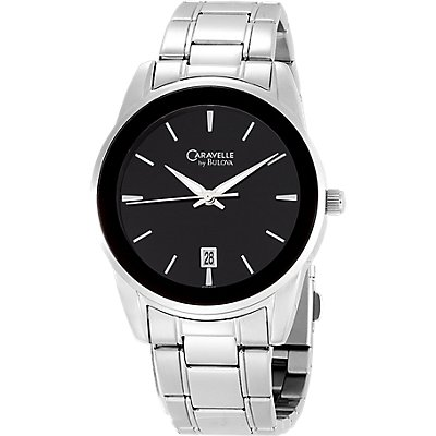 Caravelle Black Dial SS (Men's)