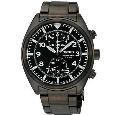 Seiko Black Chronograph (Men's)