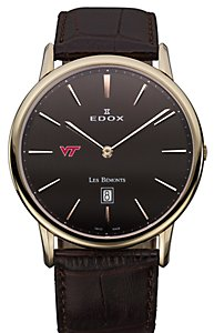 Edox Les Bémonts Ultra Slim Brown Dial (Men's)