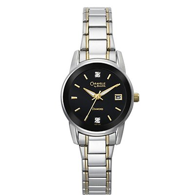Caravelle Black Dial w/ Diamonds (Women's)