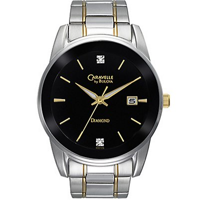 Caravelle Black Dial w/ Diamonds (Men's)