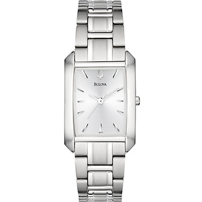 Bulova Rectangle Silver Dial (Women's)