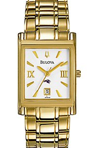 Bulova Gold-Tone Rectangle (Women's)