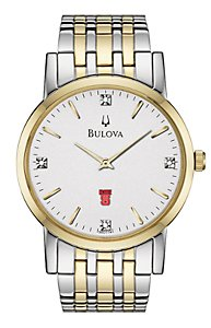 Bulova White Dial w/ Diamonds (Men's)