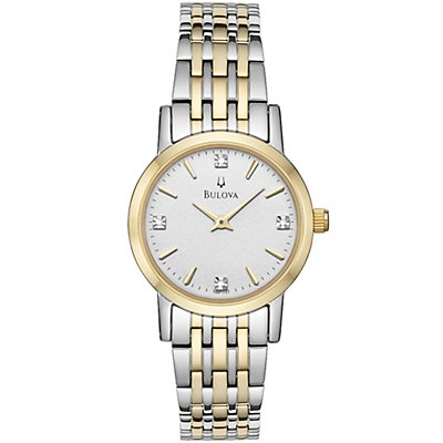 Bulova White Dial w/ Diamonds (Women's)