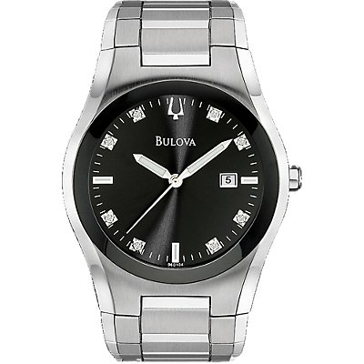 Bulova Black Dial 8 Diamonds (Men's)