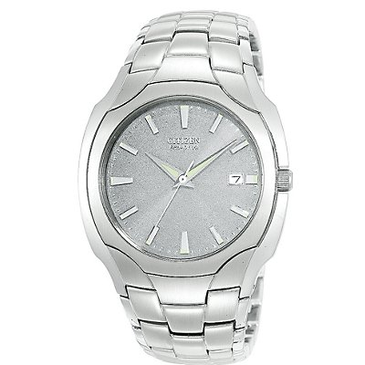 Citizen Eco-Drive SS Bracelet Grey Dial (Men's)