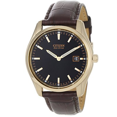 Citizen Eco-Drive Brown Leather Strap (Men's)