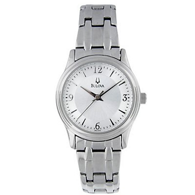 Bulova Stainless Steel Round (Women's)