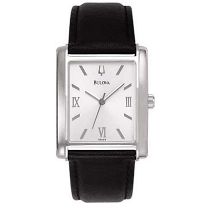 Bulova Silver Rectangle (Men's)