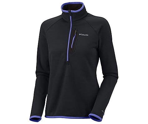 photo: Columbia Women's Grid Grit ½ Zip fleece jacket