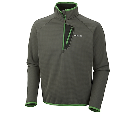 photo: Columbia Men's Grid Grit ½ Zip fleece jacket