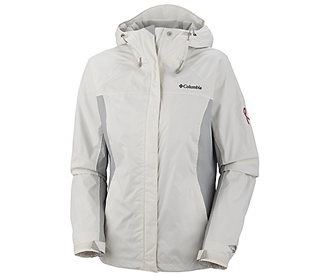 Columbia Tested Tough In Pink Rain Jacket