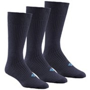 Ribbed Crew Sock - 3 Pk
