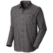 Men's Solid Flannel Twill Long Sleeve Shirt