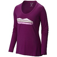 Women's DrySpun™ Mountain Logo Long Sleeve T