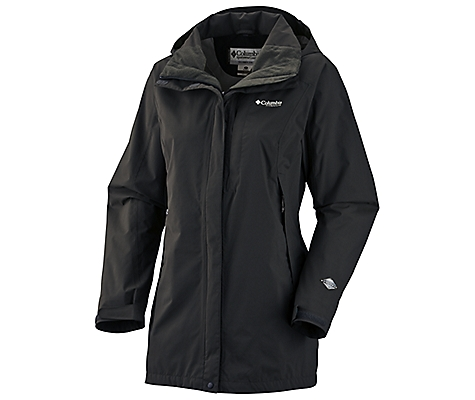 photo: Columbia Aravis Long Shell Jacket waterproof jacket