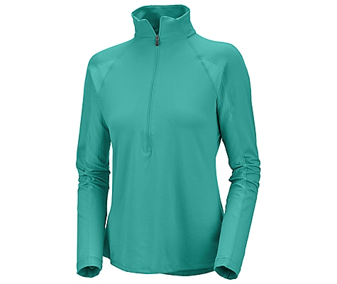 photo: Columbia Anytime 1/2 Zip long sleeve performance top