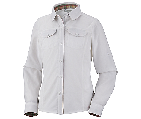 photo: Columbia Girls' Silver Ridge Long Sleeve Shirt
