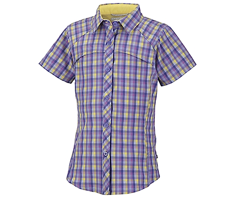 photo: Columbia Girls' Silver Ridge Plaid Short Sleeve Shirt