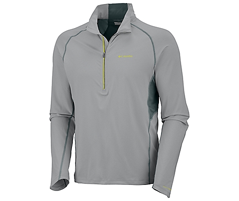 photo: Columbia Men's Solar Polar 1/2 Zip long sleeve performance top