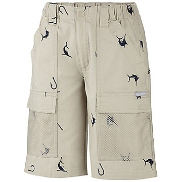 Toddler Boy's Half Moon™ Embroidered Short